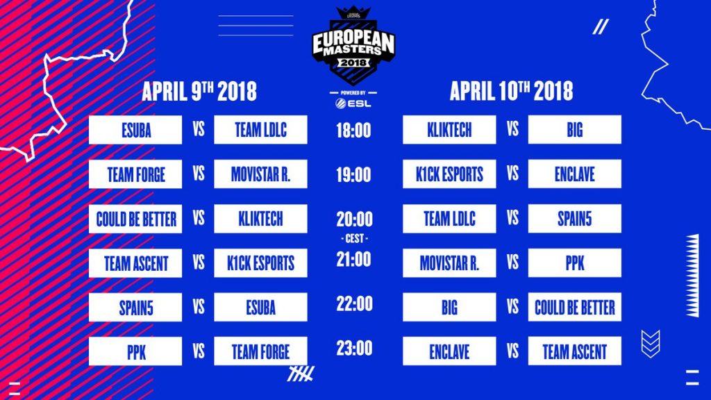 k1ck european masters